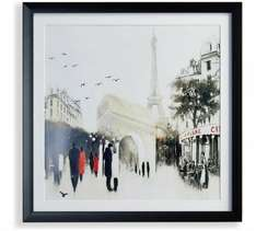 Framed Parisian Cafe Scene Canvas £3.49 @ Argos (C&C)