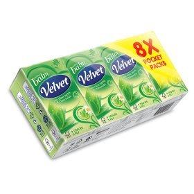 2 x 8 pack Velvet Aloe Balm Pocket Tissues for £2.00 at Asda
