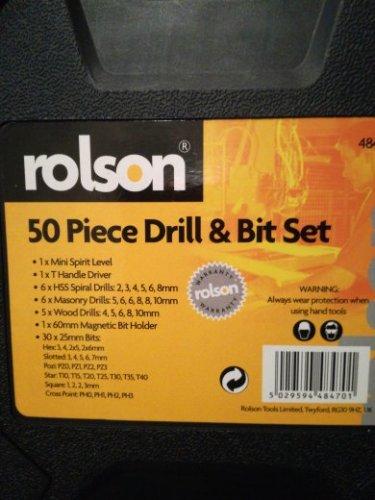 Rolson 50 Piece Drill & Bit set £4 @ Tesco instore