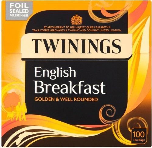 Twinings English breakfast 100 tea bags (250g) Half Price was £4.99 now £2.49 @ Waitrose
