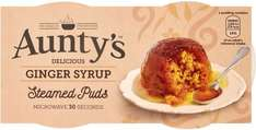Aunty's Golden Syrup Steamed Puddings (2 x 95g) was £1.55 now £1.00 @ Waitrose