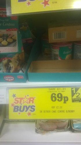 Dr Oetker 140g Easy Fill Cake Centre Blueberry 69p at home bargains
