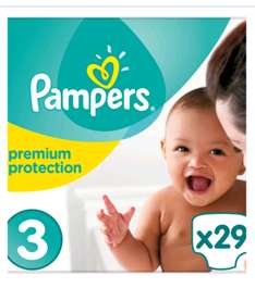 Pampers Size 3 Premium Protection nappies at Boots 7p each x 29 nappies (£2) plus free size 4 sample and 20p Advantage card points @ Boots