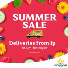 1p deliveries from Morrisons 1st July - 31st August