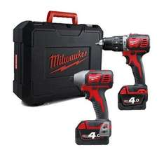 Milwaukee combi hammer drill and impact driver pair. Only £247 with voucher code 32q0pcf from anglia tool centre