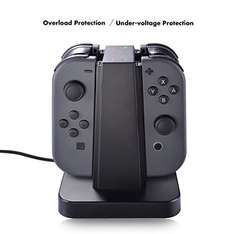 Nintendo Switch Joy Con Charger Dock, Sunix 4 in 1 Charging Stand with LED indication for Nintendo Switch Joy Con £8.49 prime / £10.48 non-prime with code - Sold by Nexo-UK and Fulfilled by Amazon