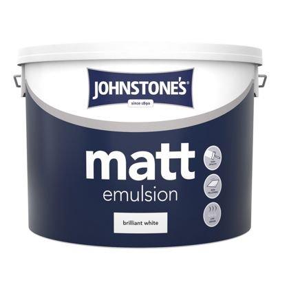Johnstone's Brilliant White - Matt Emulsion - 10L= £10 @.homebase