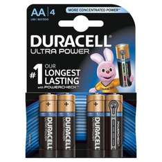 £1 Four Duracell Ultra Power with Powercheck AA bateries in store B&Q Wellingborough