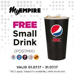 Free Small Drink @ Empire Cinemas