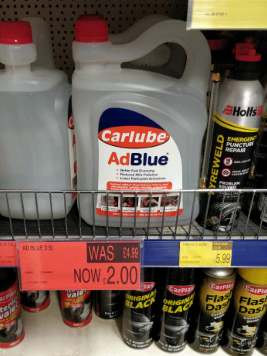 Ad Blue 3.5L - £2 instore @ B&M