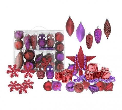 48 Piece Wild Berry / Midnight Glamour Bauble Pack - was £4.99 now £1.99 @ Argos (C&C)