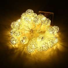 30 Led 10 Feet Battery String Lights £1.99 with £9 Voucher / £5.98 non prime Sold by FUDISI Tech and Fulfilled by Amazon
