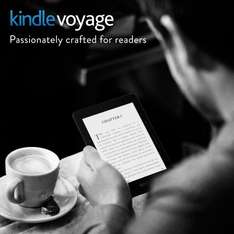 """Certified Refurbished Kindle Voyage, 6"""" High-Resolution Display (300 ppi) with Adaptive Built-in Light, PagePress Sensors, Wi-Fi was £154 now £119 / 3G + Wi-Fi was 214 now £179 @ Amazon"""