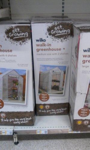 Various wilko green houses reduced @ wilko