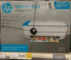 HP Deskjet 3634, Wireless All-in-One Inkjet Colour Printer, A4 - HP Instant Ink compatible instore Tesco Liverpool One £15 was £49