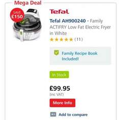 Tefal family Actifry 1.5kg - £99.95 SonicDirect