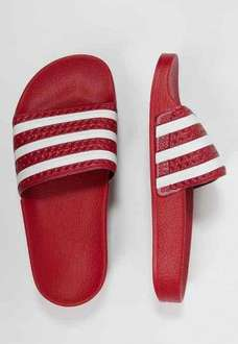 Adidas Originals ADILETTE - Sandals - light scarlet/white £16.99 @ zalando