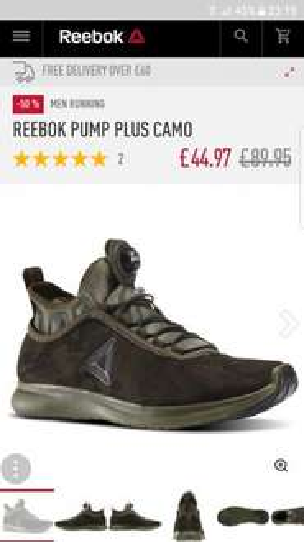 Reebok pump Plus camo £44.97 @ Reebok Store