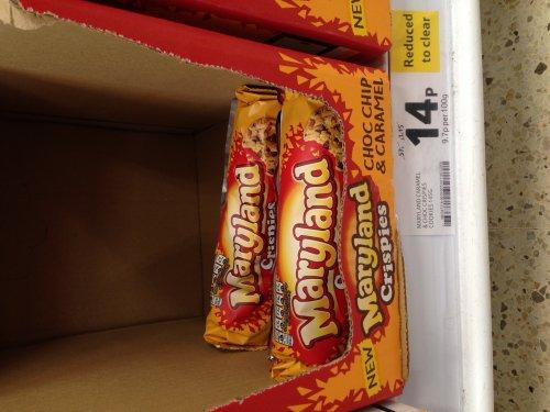 Maryland Crispies Caramel Crisp & Choc Chip Cookies 14p @ TESCO instore