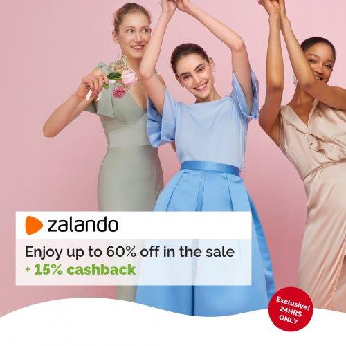 60% off at Zalando + 15% Quidco cashback