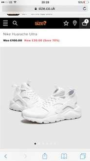 Nike Huarache Ultra Trainers - £33.99 Delivered @ Size?