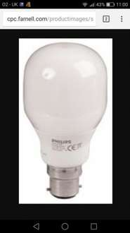12w 240v Phillips energy saving B22 Lamp £1.01 free delivery (over £5) @ CPC