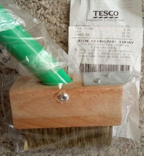 Long handled weed (patio/paving) brush with scraper  £1.50 @ Tesco - Loughborough