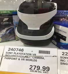 Playstation VR Headset, Camera, VR Worlds & Farpoint Bundle £335.98 inc. VAT @ Costco