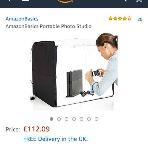 Amazon Basics Portable Photo Studio £112.02