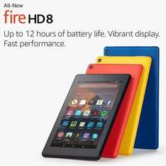 "All-New Fire HD 8 Tablet with Alexa, 8"" HD Display, 16 GB, Black was £79.99 now £49.99 @ Amazon"