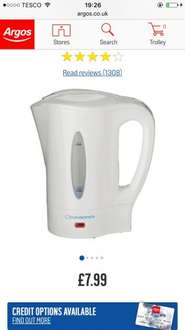 Cook works travel kettle & 2 cups £7.99 Argos
