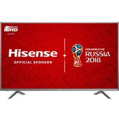 """Hisense H65N5750 65"""" Smart 4K Ultra HD with HDR TV - Silver £1099 less £175 for old TV trade in, less £40 for code AOBIG40 = £884 @ AO"""