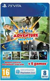 PlayStation Vita Adventure MEGA Pack with 8GB Memory Card - £15.99 @ GAME