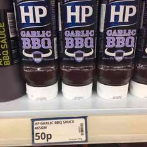 HP garlic BBQ sauce, 50p at poundstretcher