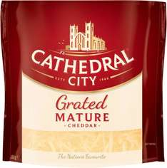 Cathedral City Mature Grated Cheddar (180g) was £2.00 now £1.00 @ Tesco