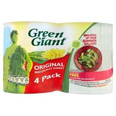 Green Giant Sweet Corn, 4 x 198g Cans £1 @ Amazon Pantry