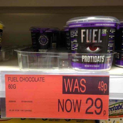 Fuel 60g Porridge 29p at B&M