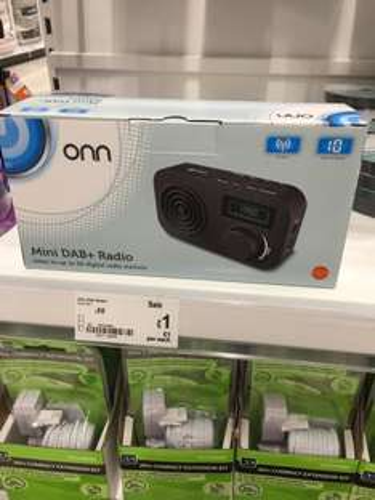 ONN MINI DAB + RADIO - £1 instore @ Asda (Ruislip)