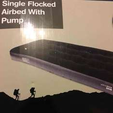 Yellowstone single flocked air bed with pump was £15 now £3.75 Tesco instore (Bedworth)