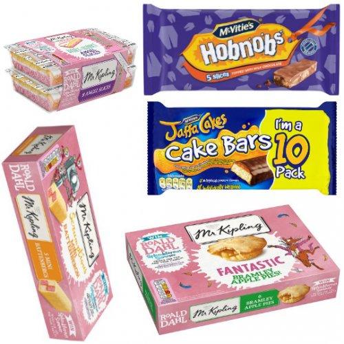 Tesco Cake, Pies, Slices Deals - Mr Kipling Pies 6 Pack 80p, Mr Kipling Angel Slices 8Pack £1.12, Mcvities Slices 70p, Mcvities Jaffa Cake Bars 10 Pack £1.25