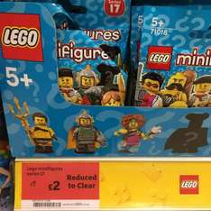 Lego Minifigures Series 17 now £2 in store @ Sainsbury's