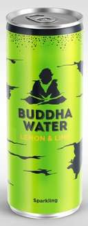 Buddha Water Lemon & Lime 250ml can 19p At Home Bargains colchester
