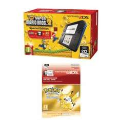 Nintendo 2DS console with Pokemon Yellow and Super Mario Bros 2 £79.99 @ Game