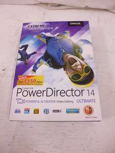 CyberLink Power Director 14 Ultimate retail boxed - £20 @ eBay (sclspares)