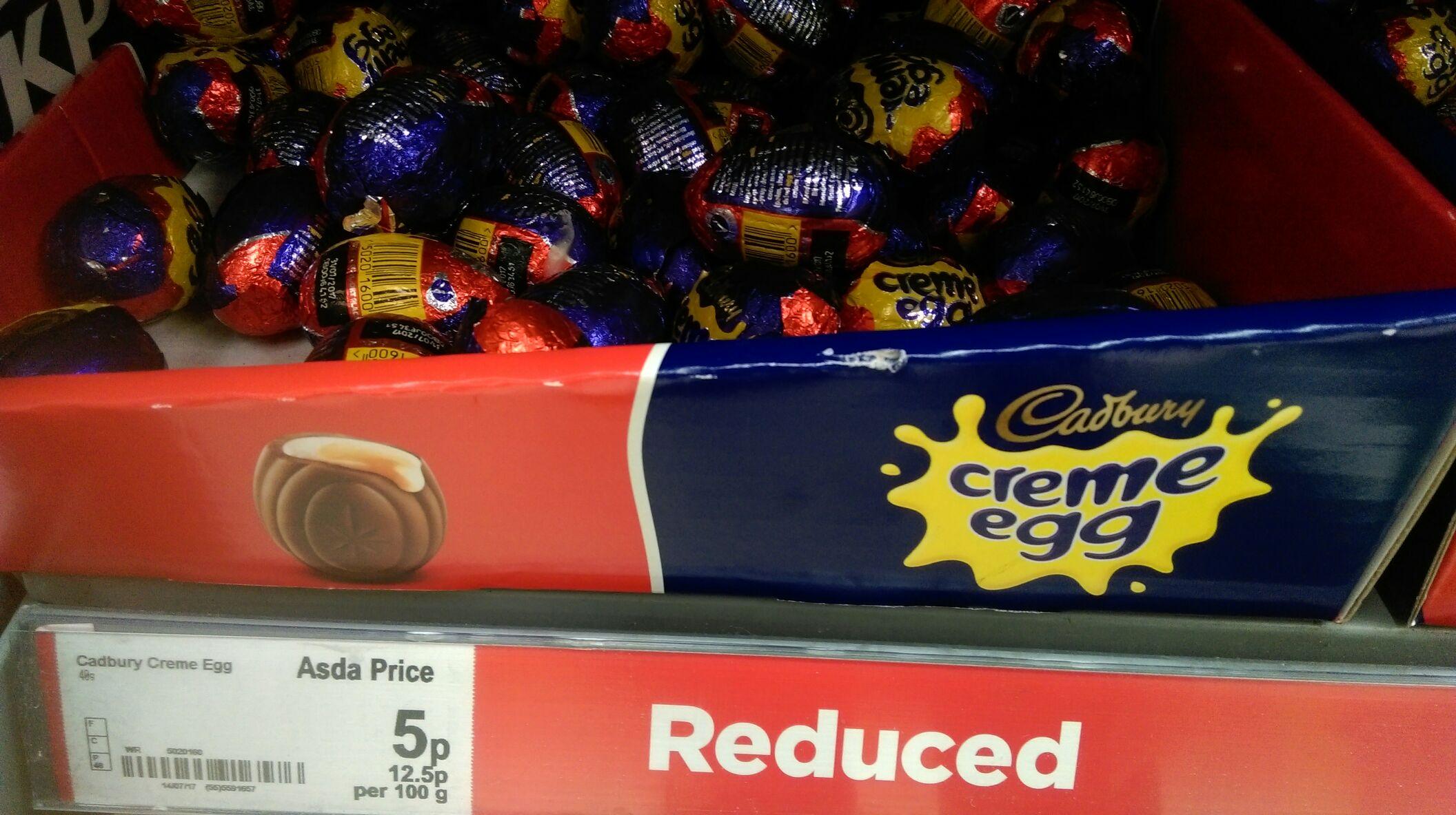 Cadbury's Creme Egg - 5p instore at ASDA Wembley
