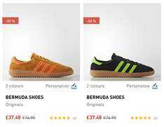 Tan/Orange & Black/green Adidas originals Bermuda mens trainers £29.98 @ adidas.co.uk with code EXTRA20 (free click n collect or £3.95 postage <£50)
