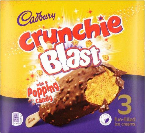 Cadbury Crunchie Blast with Poppin' Candy 3 x 100ml (300ml) / Cadbury Dairy Milk Ice Cream Swirl Luxury Ice Cream 3 x 100ml (300ml) was £2.50 now £1.25 @ Iceland