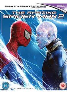 The Amazing Spider-Man 2 (Blu-ray 3D + Blu-ray + UV Copy) £3.89 Free delivery @ Base