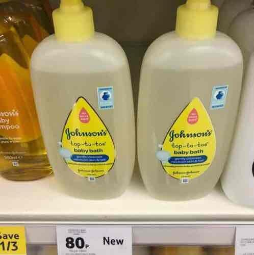 Johnson's top to toe bath bath - Tesco in store - 80p