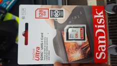 Sandisk ultra sdxc 128gb card £11 instore @ Asda